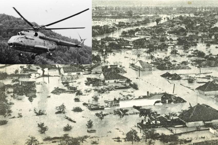 Inundațiile din 1970. Amintirile comandorului (ret.) Vasile Iurașcu, elicopterist militar
